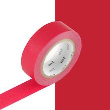mt Washi Masking Tape - 15mm x 10m - Red