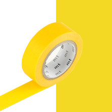 mt Washi Masking Tape - 15mm x 10m - Yellow