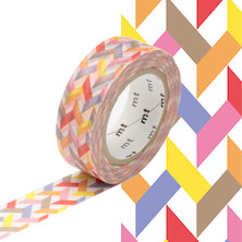 mt Washi Masking Tape - 15mm x 10m - Slash Red