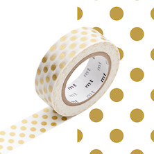 mt Washi Masking Tape - 15mm x 10m - Dot Gold