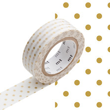 mt Washi Masking Tape - 15mm x 10m - Dot S Gold