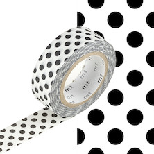 mt Washi Masking Tape - 15mm x 10m - Dot Black