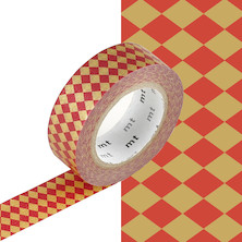mt Washi Masking Tape - 15mm x 10m - Diamond Vermilion