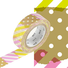 mt Washi Masking Tape - 15mm x 10m - Tsugihagi I