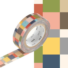 mt Washi Masking Tape - 15mm x 10m - Mosaic Greyish