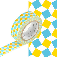 mt Washi Masking Tape - 15mm x 10m - Square Yellow