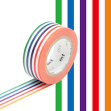 mt Washi Masking Tape for Kids - 15mm x 7m - Colorful Border