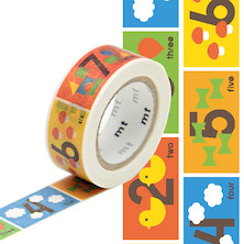 mt Washi Masking Tape for Kids - 15mm x 7m - Number
