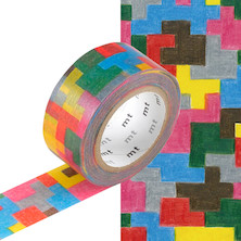 mt Washi Masking Tape by mina perhonen - 20mm x 10m - Puzzle
