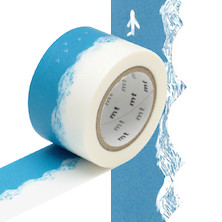 mt Washi Masking Tape by mina perhonen - 30mm x 10m - Trip Blue