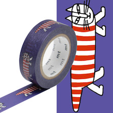mt Washi Masking Tape by Lisa Larson - 15mm x 10m - Mikey the Cat