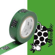 mt Washi Masking Tape by Lisa Larson - 15mm x 10m - Cow