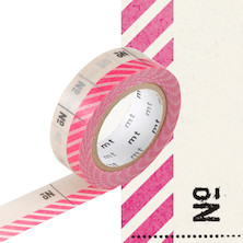mt Washi Masking Tape EX - 15mm x 10m - Number Pink