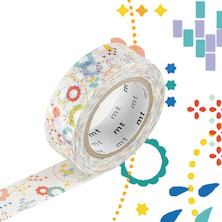 mt Washi Masking Tape EX - 15mm x 10m - Colorful Pop