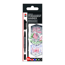 Marabu Graphix Permanent Marker Set of 4 Once Upon A Time