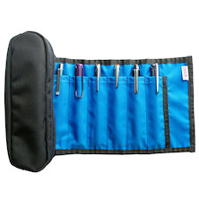 Nock Brasstown Zip Roll Pen Case for 6 Pens