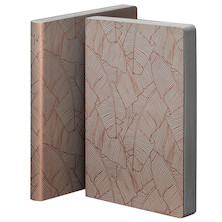 nuuna Graphic L Smooth Bonded Leather Cover Notebook Banana Leaves