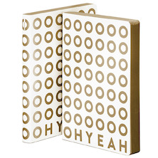 nuuna Graphic L Smooth Bonded Leather Cover Notebook Oh Yeah (Gold)