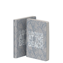 nuuna Graphic S Grey Jeans Label Material Cover Notebook I'd Rather Be At The Beach