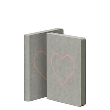Nuuna Graphic S Jeans Label Material Cover Notebook Heart