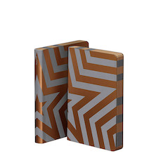 Nuuna Graphic S Smooth Bonded Leather Cover Notebook Super Star Gold