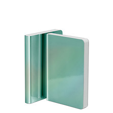 Nuuna Pearl Metallic Cover Notebook Turquoise