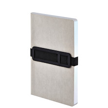 Nuuna Voyager M Recycled Leather Cover Notebook Grey