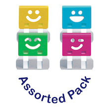 OHTO Smile Slide Clips Assorted Pack of 20