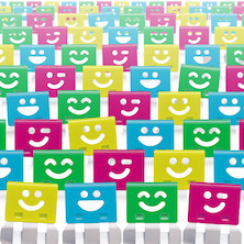 OHTO Smile Slide Clips Assorted Box of 100