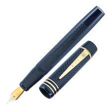 Onoto Magna Classic Fountain Pen Blue Chased