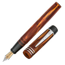 Onoto Magna Classic 18ct Gold Nib Fountain Pen Amber Pearl