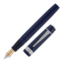 Onoto Magna 18ct Gold Nib Fountain Pen University of Oxford  Blue