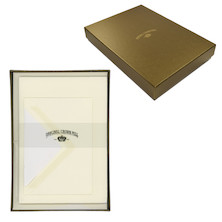 Original Crown Mill Writing Set Gold Line Deckle Edge A5