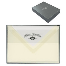 Original Crown Mill Card and Envelope Set Silver Line