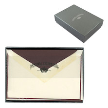 Original Crown Mill Card and Envelope Set Silver Line Bicolour