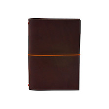 Paper Republic Grand Voyageur Leather Notebook (Passport Size) Chestnut