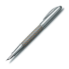 Porsche Design TecFlex P3110 Steel and Gold Fountain Pen