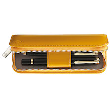 Pelikan Leather Zip Case for 2 Pens