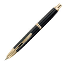 Pilot Capless Fountain Pen Gold Trim Black
