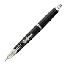 Pilot Capless Fountain Pen Rhodium Trim Black