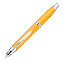 Pilot Capless Fountain Pen Rhodium Trim Yellow