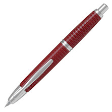 Pilot Capless Fountain Pen Carbonesque Graphite Red