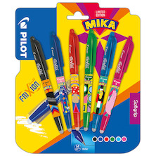 Pilot Frixion Erasable Rollerball Set of 6 Assorted 'Pilot by Mika' Limited Edition