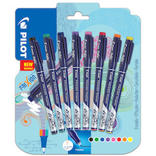 Pilot Frixion Erasable Fineliner Assorted Set of 8