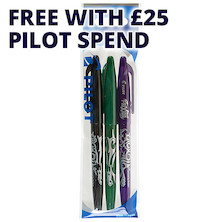 Pilot Frixion Erasable Rollerball Pen Wallet of 3