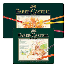 Faber-Castell Polychromos Pencils Tin of 60 with free Tin of 12 Albrecht Durer Magnus