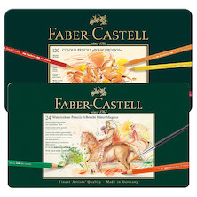 Faber-Castell Polychromos Pencils Tin of 120 with free Tin of 24 Albrecht Durer Magnus