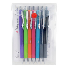 Platignum Tixx Ballpoint Pen Assorted Wallet of 5 Plus 2 Free