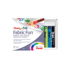 Pentel Fabric Fun Pastels Set of 7