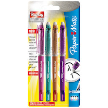 Paper Mate Replay Premium Erasable Gel Pen Assorted Wallet of 4